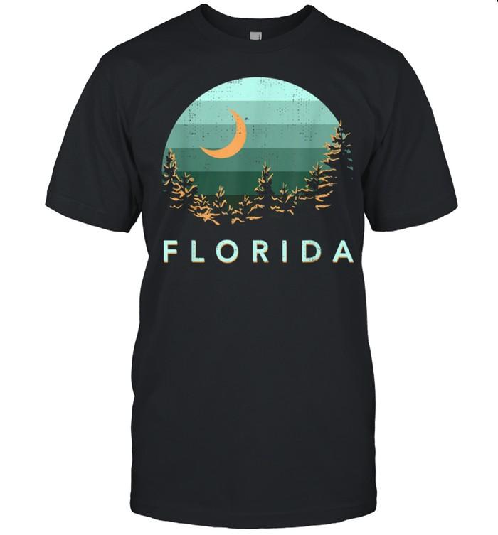 Florida Souvenir Forest Evergreen Night Sky Nature shirt
