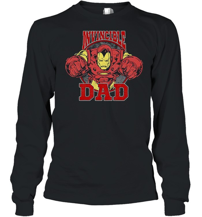 Marvel Iron Man Father's Day Invincible Dad shirt Long Sleeved T-shirt