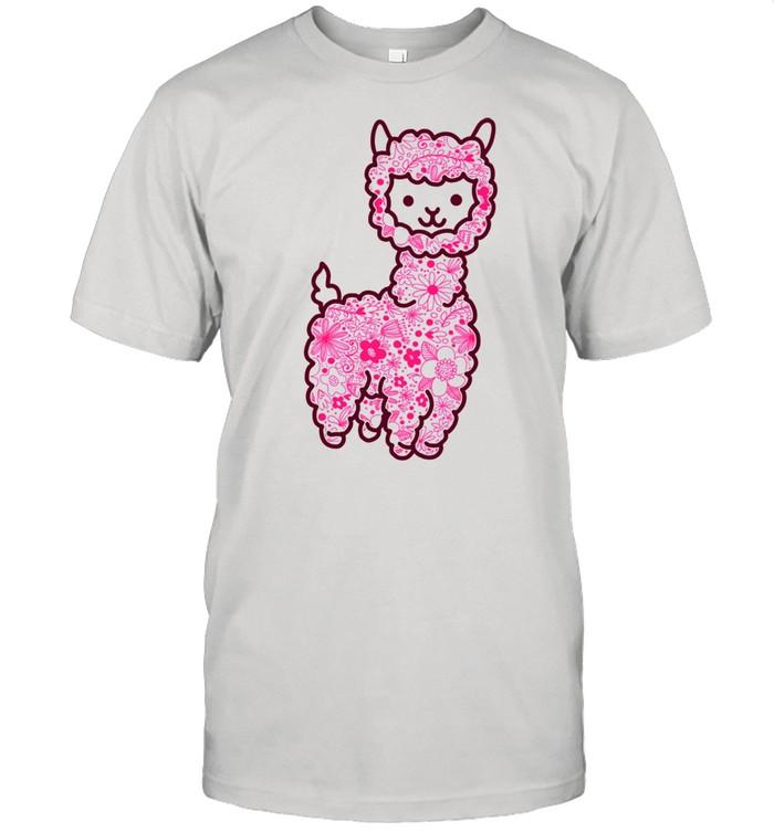 The Alpaca Pack Pink Retro Vintage Flower Floral Spring shirt