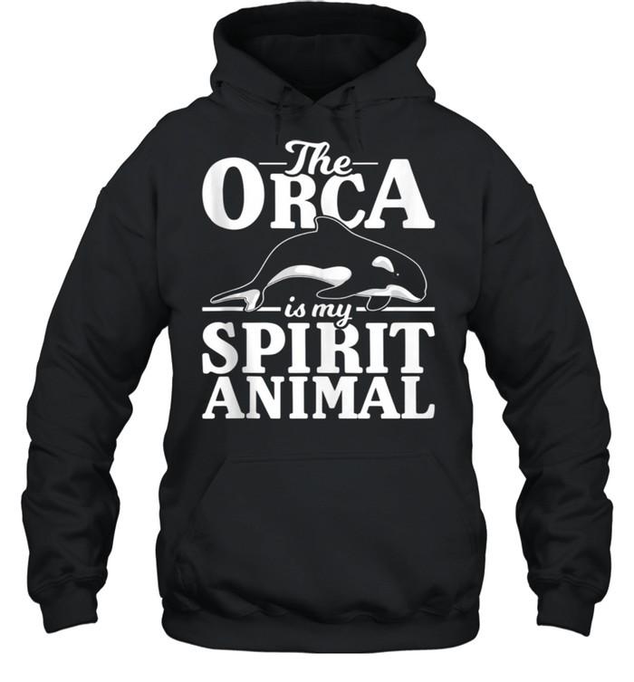 Ocean Animal Aquarist Spirit Animal Whale Orca shirt Unisex Hoodie