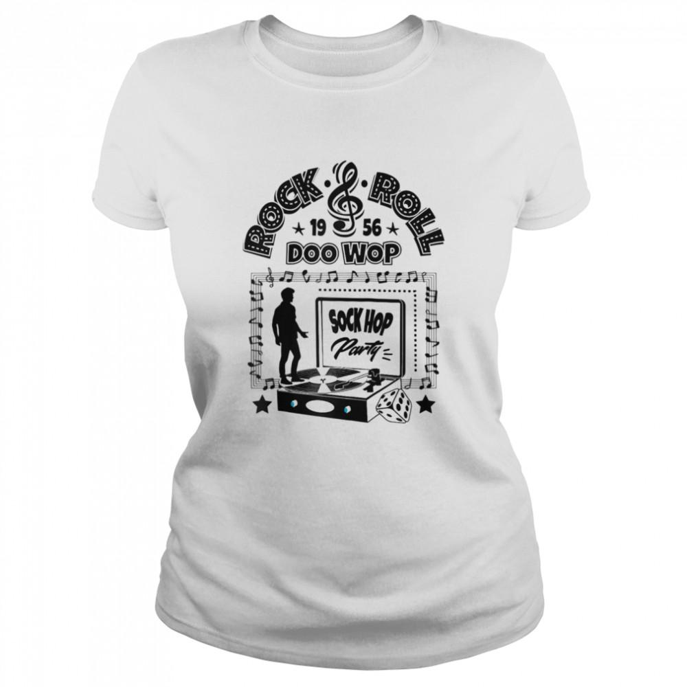 50s Sock Hop Party Doo Wop Rockabilly 1950s Rock and Roll  Classic Women's T-shirt