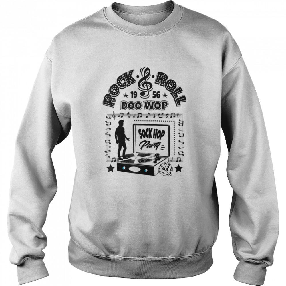 50s Sock Hop Party Doo Wop Rockabilly 1950s Rock and Roll  Unisex Sweatshirt