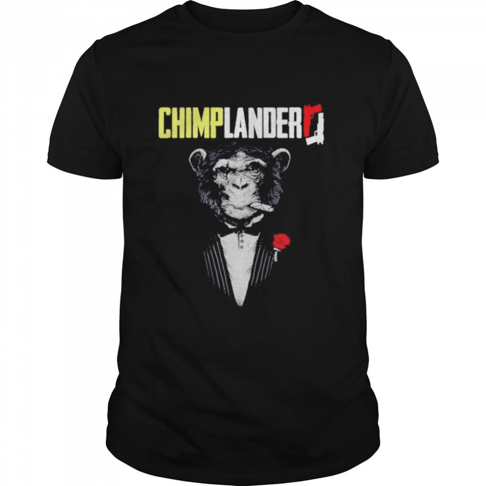 Monkey Smoking Cigar chimplander shirt