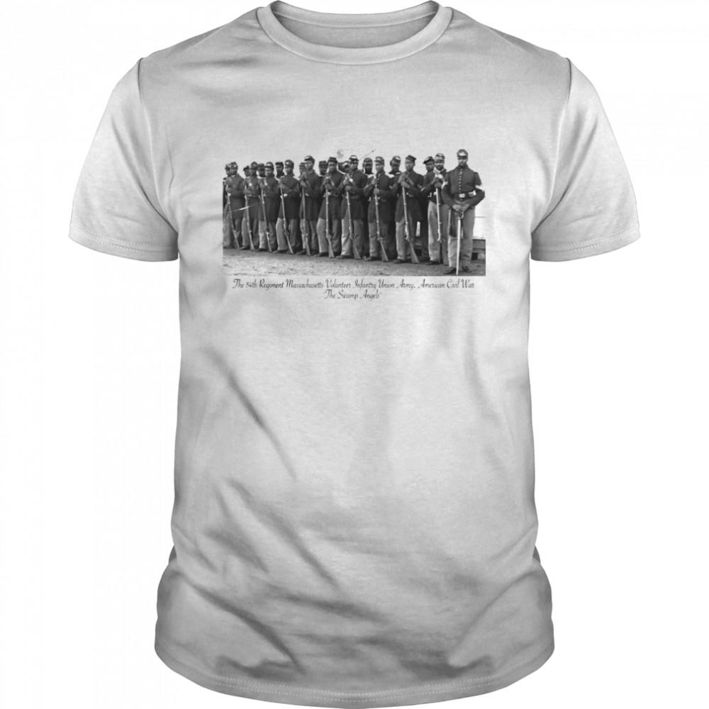 US Civil War Legacy All Black Regiment Shirt