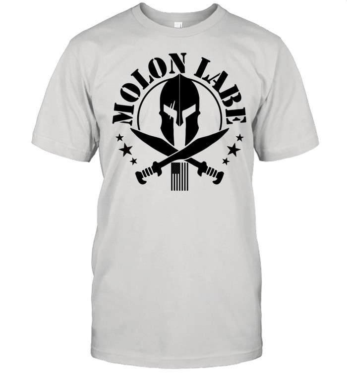 Epic 2A Spartan Molon Labe Patriotic American Flag shirt