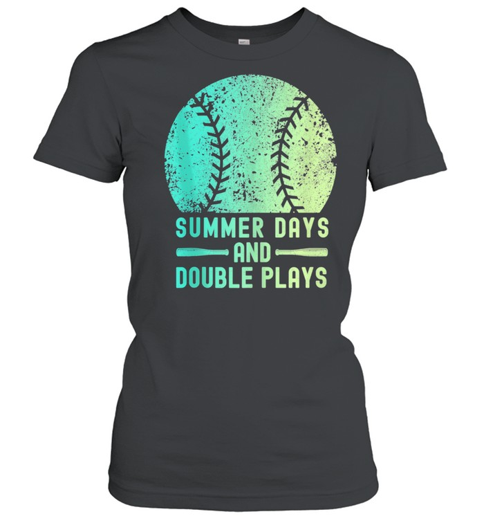 Summer Days And Double Plays Softball  Classic Women's T-shirt