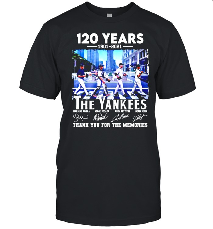 120 years 1901 2021 The Yankees thank you for the memories The Beatles shirt Classic Men's T-shirt