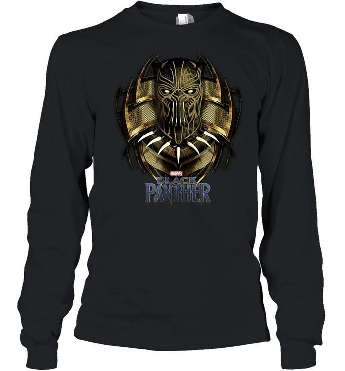 Marvel Black Panther Movie Killmonger Golden Jaguar T-shirt Long Sleeved T-shirt