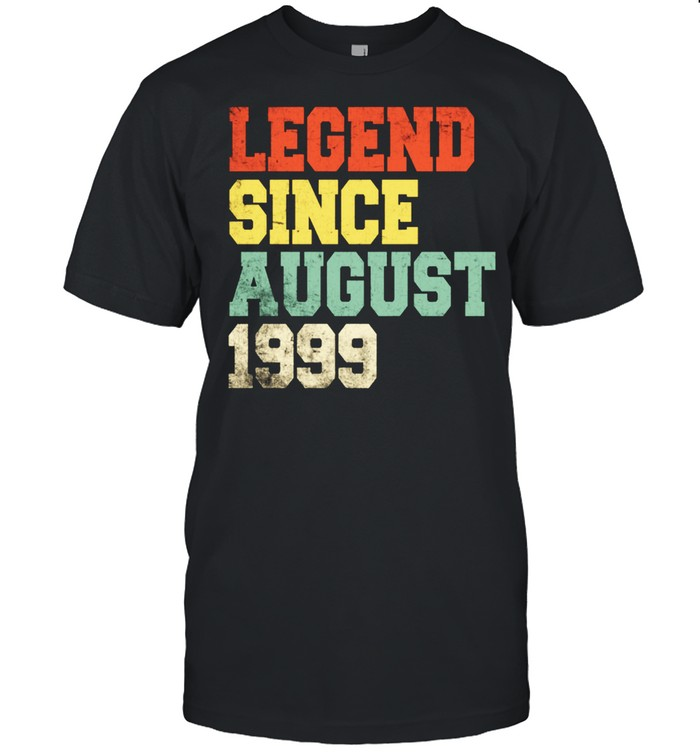 22nd Vintage Legend August 1999 Birthday 22 Years Old shirt Classic Men's T-shirt