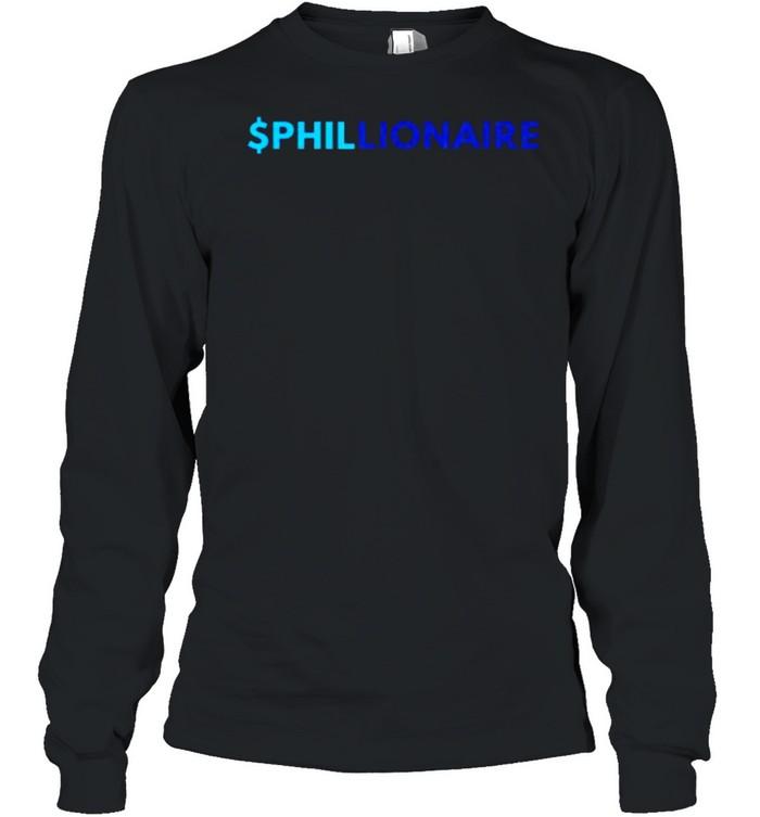 $PHILLIONAIRE The British septuagenarian T- Long Sleeved T-shirt