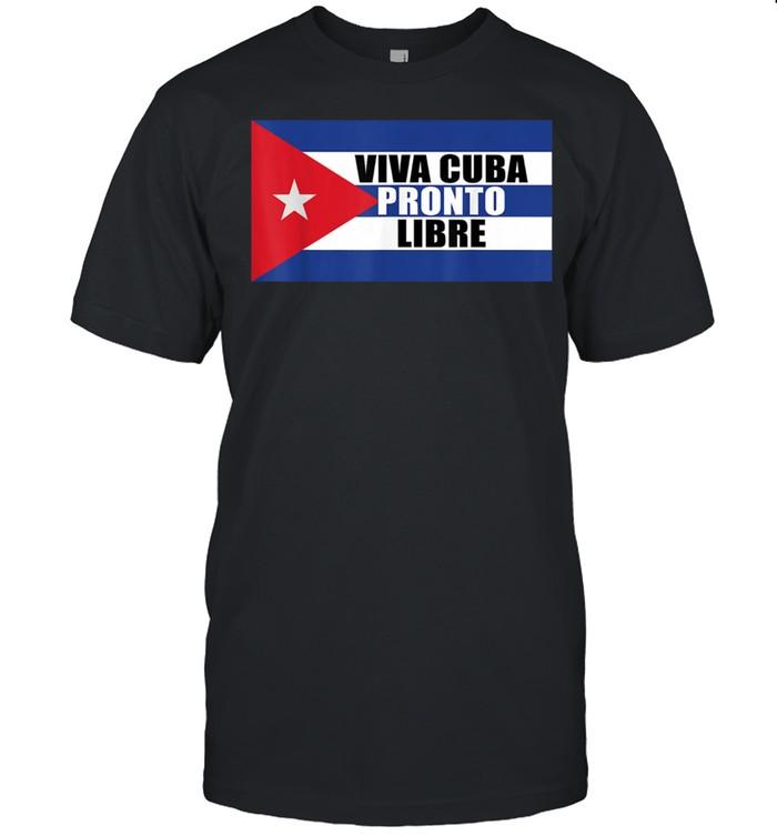 Viva Cuba Pronto Libre Flag y Cuban Bandera shirt Classic Men's T-shirt