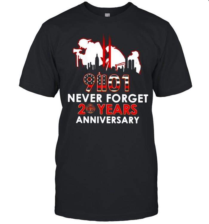 9-11-2021 Never Forget 20th Years Anniversary T-shirt Classic Men's T-shirt