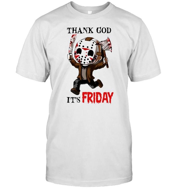 Jason Voorhees thank God it's friday shirt Classic Men's T-shirt