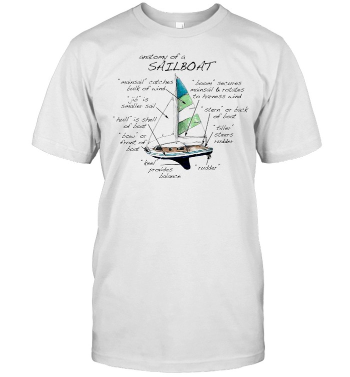 The Anatomy Of A Sailboat T- Classic Men's T-shirt