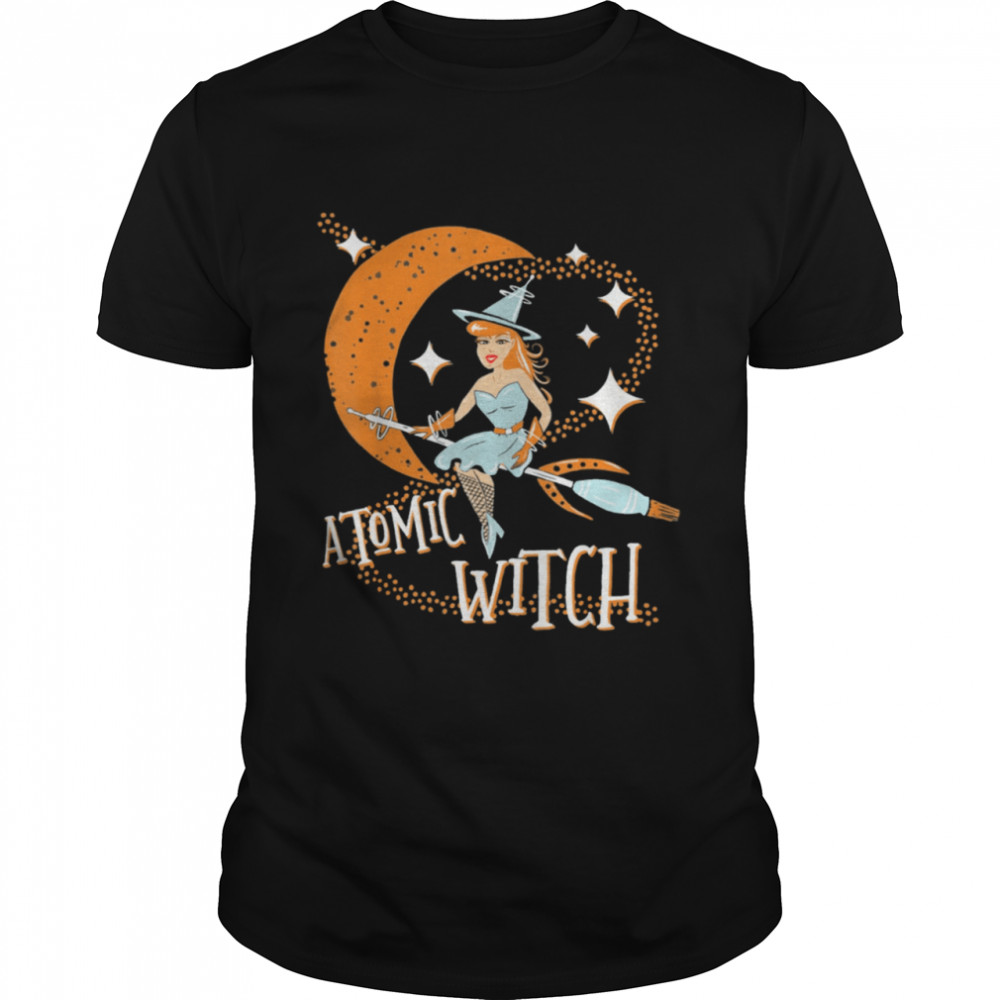 Atomic Witch Pinup Girl Retro Vintage Sexy Halloween shirt Classic Men's T-shirt