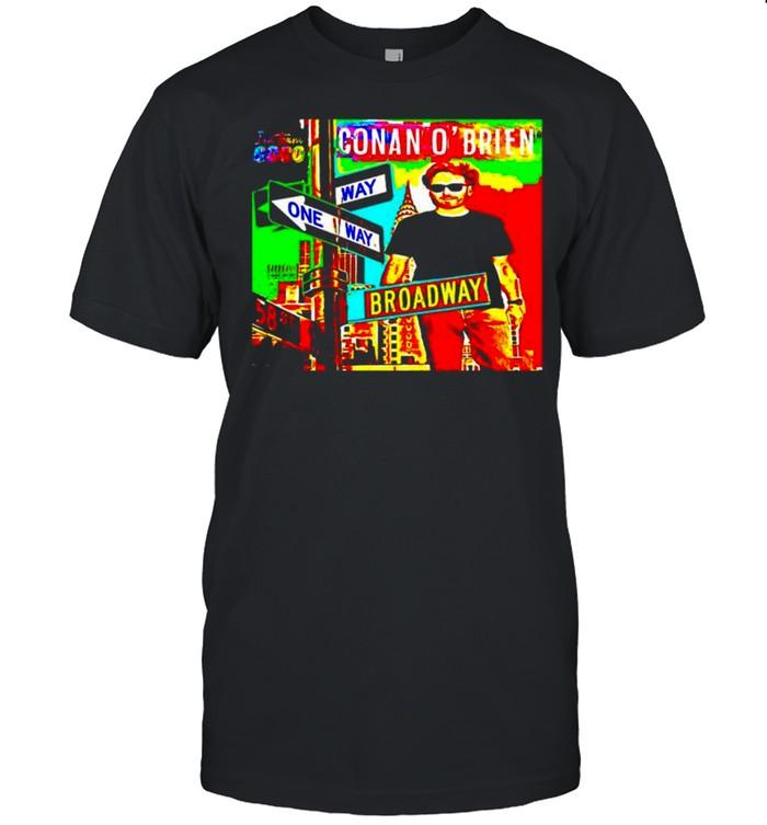 Conan O'Brien way one way broadway shirt Classic Men's T-shirt