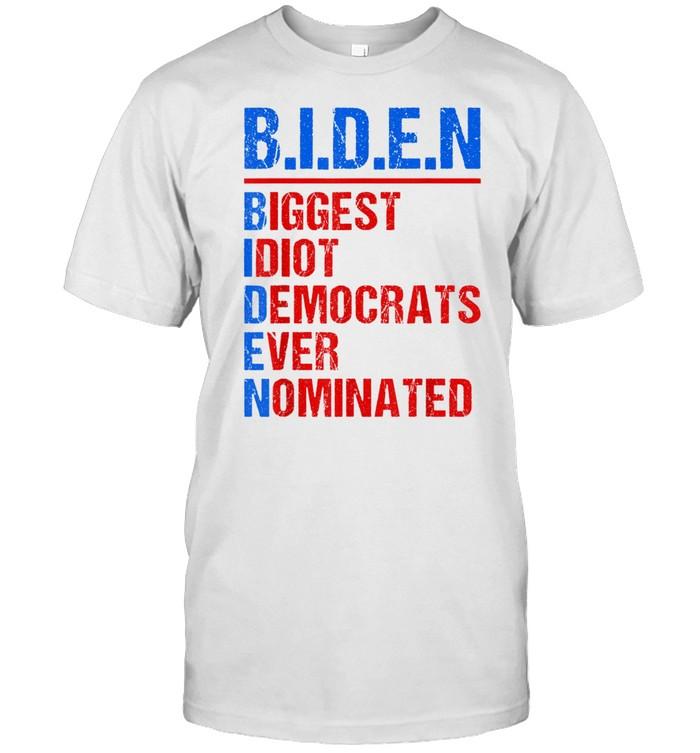 Biggest Idiot Democrats Ever Nominated Anti Biden 2024 shirt Classic Men's T-shirt