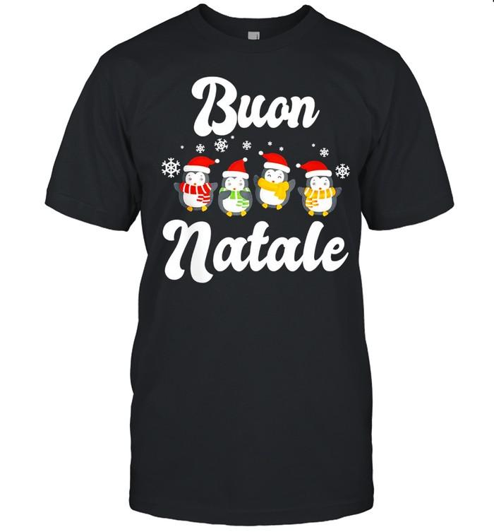 Buon Natale Christmas Pinguins shirt Classic Men's T-shirt